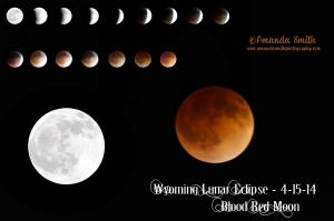 Wyoming Blood Red Moon and Lunar Eclipse by Amanda Smith Wyoming Photographer