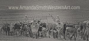 Amanda Smith Wyoming on gathering Corriente on the Henry Ranch